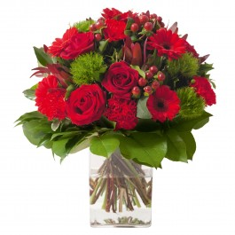 Sympathy bouquet in red colour (without vase), Sympathy bouquet in red colour (without vase)