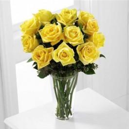Ramo de rosas de color amarillo, Ramo de rosas de color amarillo