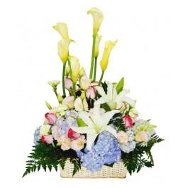 กระเช้าดอกไม้สด, กระเช้าดอกไม้สด