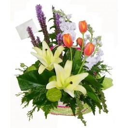 กระเช้าดอกไม้ผสม, กระเช้าดอกไม้ผสม
