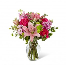 Pink Posh™ Bouquet- VASE INCLUDED, Pink Posh™ Bouquet- VASE INCLUDED