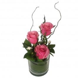 Three Rose Glass Pink, Three Rose Glass Pink