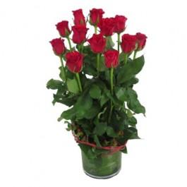 12 Red Roses In Vase, 12 Red Roses In Vase