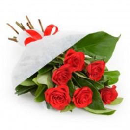Red Roses In Deco Net, Red Roses In Deco Net