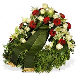 Wreath with ribbon, Wreath with ribbon
