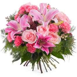 Dominica, Ramo de Flores Mistas com Rosas e Liliuns