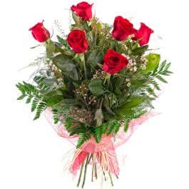 Sexta, 6 Rosas Vermelhas de Pé Longo