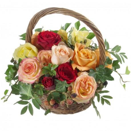 Une corbeille remplie de roses, Une corbeille remplie de roses