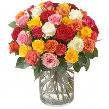 Bouquet de roses multicolores (36 roses), Bouquet de roses multicolores (36 roses)