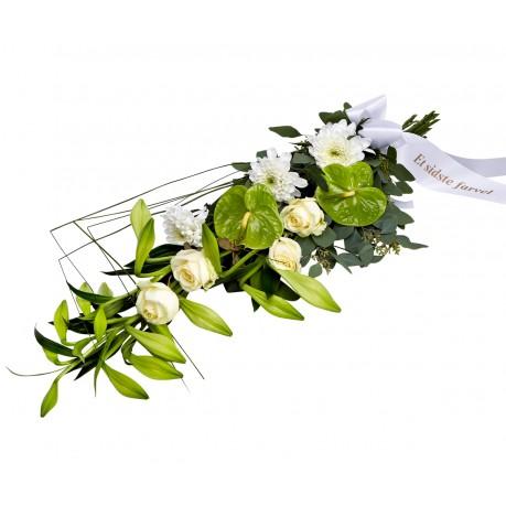 Funeral spray with ribbon, Funeral spray with ribbon