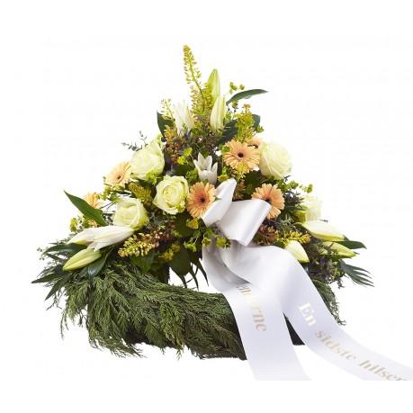 Decorative wreath with ribbon, Decorative wreath with ribbon