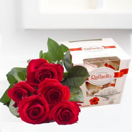 Ramo de rosas con bonbons, Ramo de rosas con bonbons