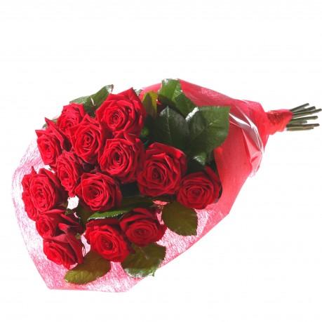 Bouquet of 15 red roses, Bouquet of 15 red roses