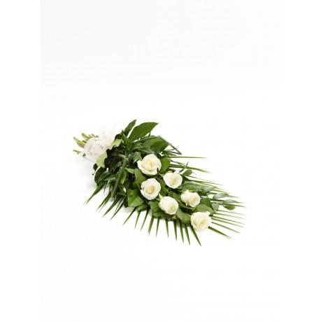 Simple Rose Sheaf  White, Simple Rose Sheaf  White