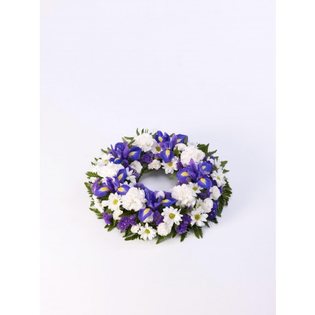 Classic Wreath  Blue and White, Classic Wreath  Blue and White
