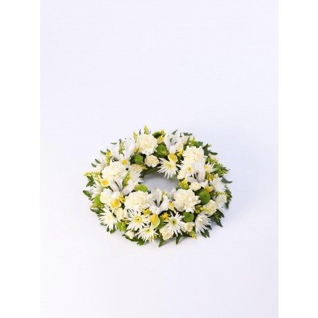 Classic Wreath  Yellow and Cream, Classic Wreath  Yellow and Cream