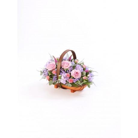 Mixed Basket  Pink and Lilac, Mixed Basket  Pink and Lilac