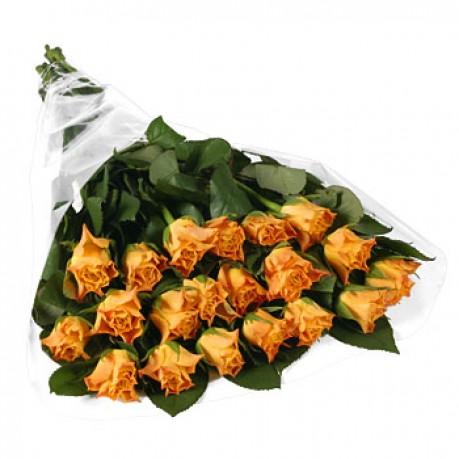 Bunch of 20 stems orange roses, Bunch of 20 stems orange roses