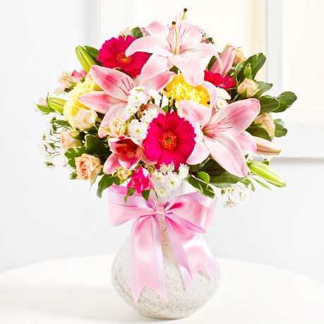 Surprise Bouquet in Pink colours, Surprise Bouquet in Pink colours