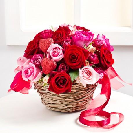 Valentine's Day Flower Arrangement, Valentine's Day Flower Arrangement