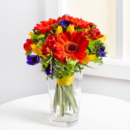 Mixed bouquet in bright colours, Mixed bouquet in bright colours