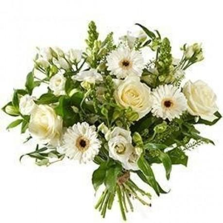 Bouquet Mixed white flowers; excl. vase, Bouquet Mixed white flowers; excl. vase
