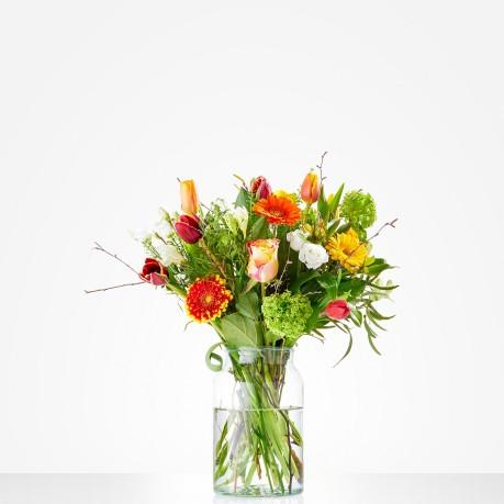 Bouquet: Colourful appearance; excl. vase, Bouquet: Colourful appearance; excl. vase