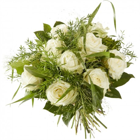 Bouquet Sweet white rose. excl. vase, Bouquet Sweet white rose. excl. vase