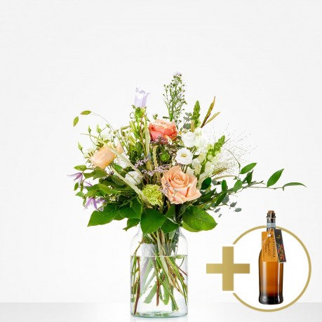 Combi Bouquet: Bubbly; including Prosecco for € 17,-, Combi Bouquet: Bubbly; including Prosecco for € 17,-
