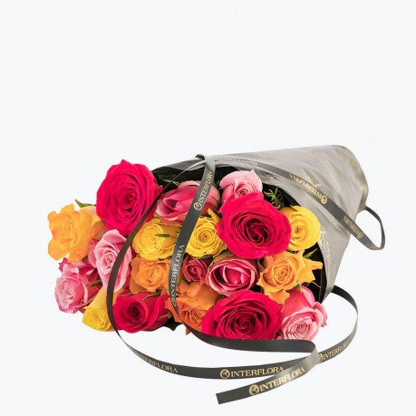 20 Colorful roses, 20 Colorful roses