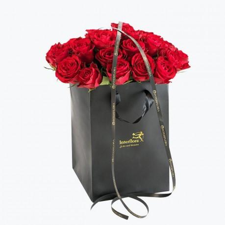 Red Roses In A Gift Bag, Red Roses In A Gift Bag