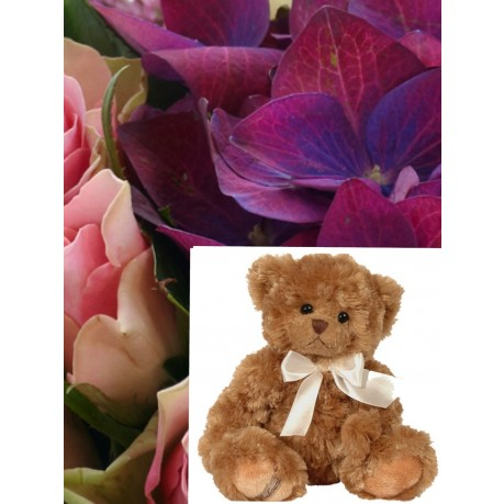 Bouquet + Teddy Bear, Bouquet + Teddy Bear