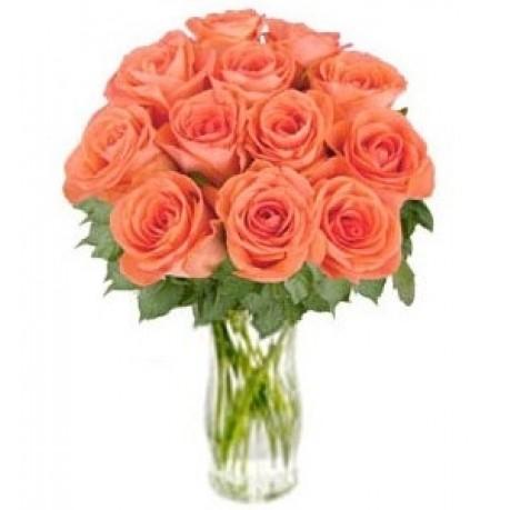 "Ramo de rosas anaranjadas ""Dicha"" (sin jarrón), Ramo de rosas anaranjadas"