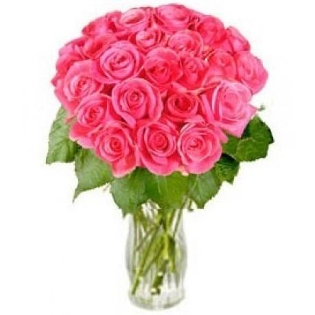"""Ramo de rosas rosadas """"Sueños atractivos"""" (sin jarrón), Ramo de rosas rosadas"""