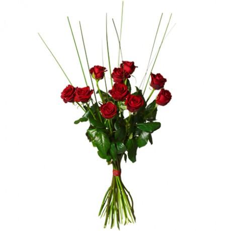 Bouquet with 10 red roses, Bouquet with 10 red roses