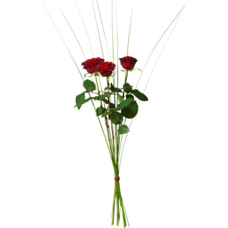 Bouquet with 3 red roses, Bouquet with 3 red roses