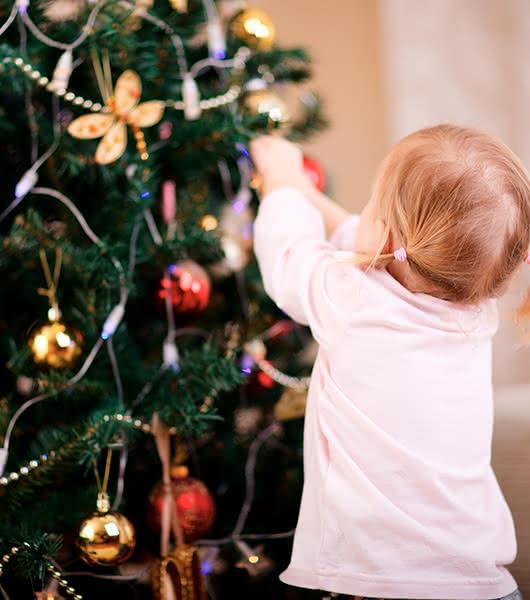 Árvores naturais de Natal para surpreender as crianças