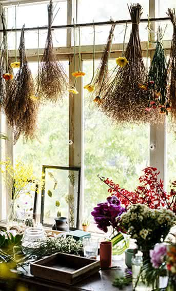 Técnicas para secar ramos de flores naturais