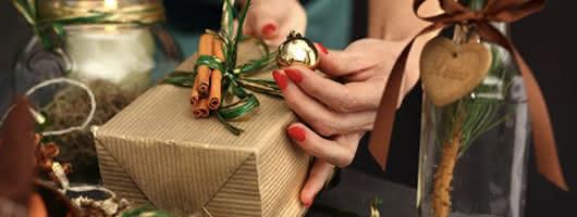 Enfeites DIY na sua mesa de Natal