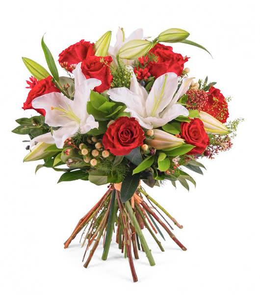 Cestas de flores e ramos natalícios para a pessoa que mais ama