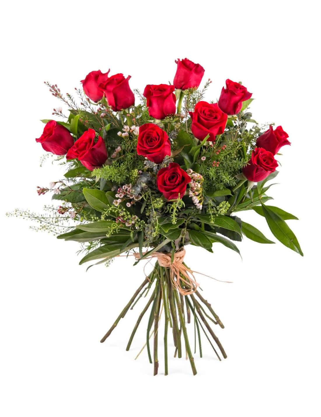 Ramos de flores frescas para oferecer no Dai de S. Valentim