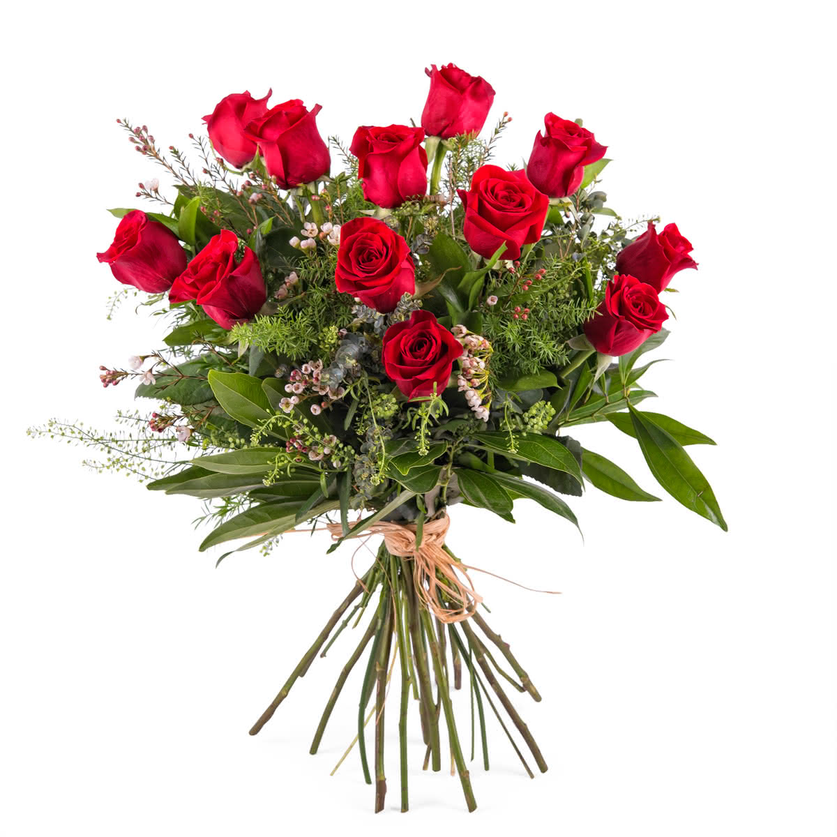 Amor, 12 Rosas Vermelhas de Pé Longo