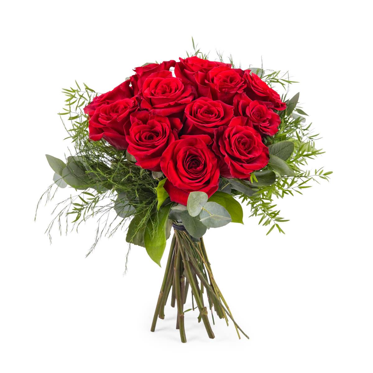Desejo, 12 Rosas Vermelhas de Pé Curto