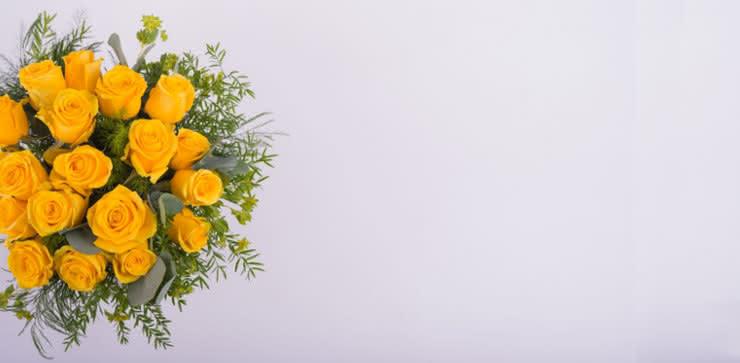 Enviar arranjo de rosas amarelas ao domicílio