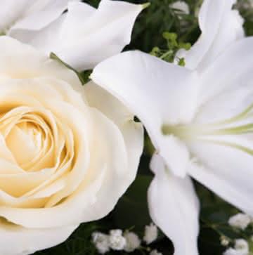Coroa de Flores funerárias para um enterro
