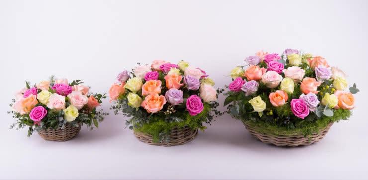 Enviar centro de rosas ao domicílio