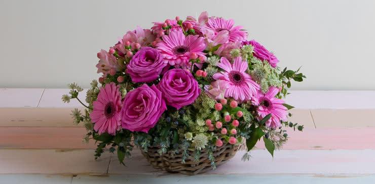 Enviar arranjo de gerberas e rosas ao domicílio