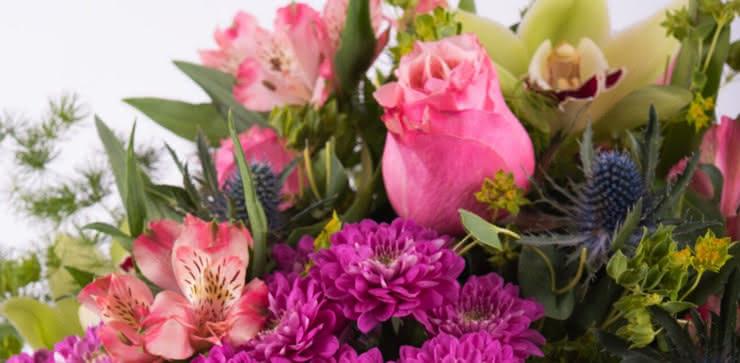 Enviar arranjo com rosas e orquídeas ao domicílio
